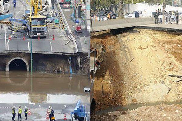 حفرة اليابان تعاود الانهيار وحفرة الجزائر صامدة!
