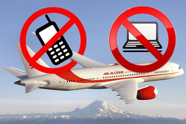 الكمبيوتر والهواتف ممنوعةفي الطائرات الجزائرية