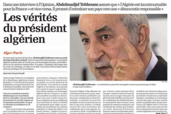 """تبون لجريدة فرنسية: """"لا أنوي الخلود في الحكم"""""""