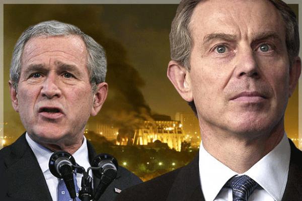 """ثنائي الحرب """"بوش وبلير"""" وثنائي الشر """"ترامب ونتنياهو"""""""