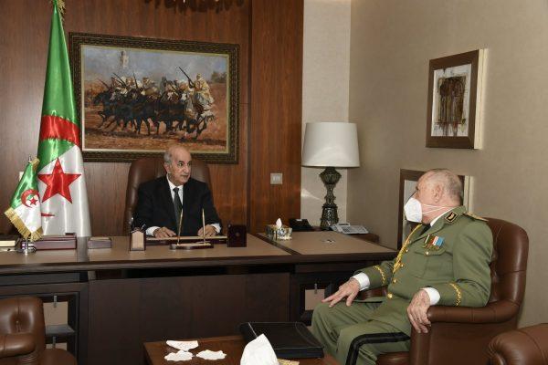 شنقريحة يقدم للرئيس تقريرا عن الوضع في الحدود