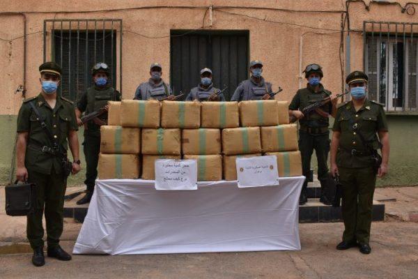 حجز كميات ضخمة من المخدرات عبر حدود المغرب